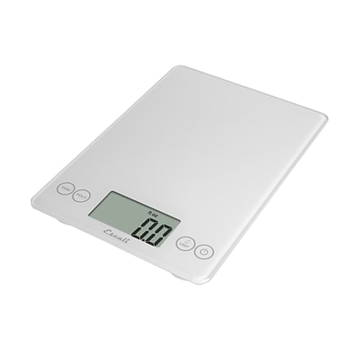Escali Arti Glass Digital Scale, 15 Lb 7 Kg, White