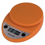 Escali Primo Digital Scale, 11 Lb 5 Kg, Pumpkin Orange