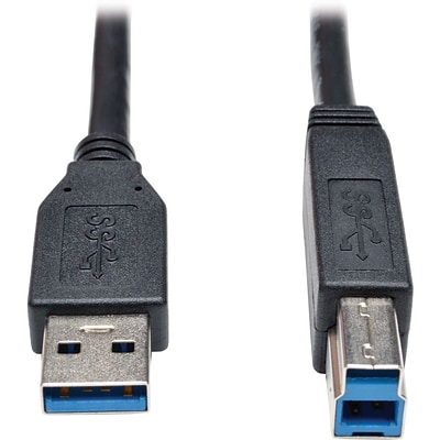 Tripp Lite 6 M/M Type A to Type B USB 3.0 SuperSpeed Device Cable; Black