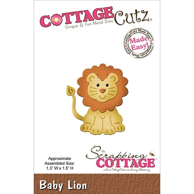 CottageCutz® 1.3 x 1.5 Steel Die, Baby Lion