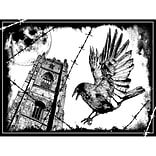 Crafty Individuals 4 3/4 x 7 Unmounted Rubber Stamp; The Crow