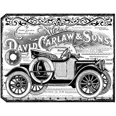 Crafty Individuals 4 3/4 x 7 Unmounted Rubber Stamp; Chunky Vintage Car Tag