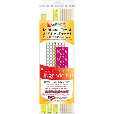 Guidelines4quilting™ Quilt Ruler Upgrade Kit