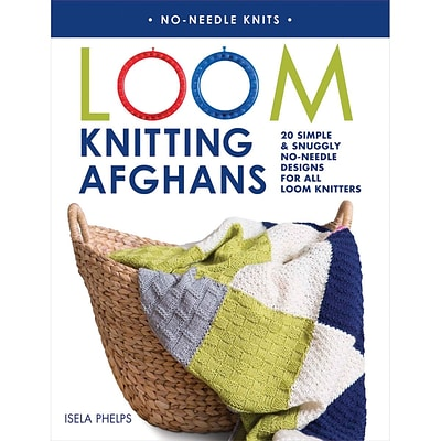 Macmillan Publishers Loom Knitting Afghans Paperback Book