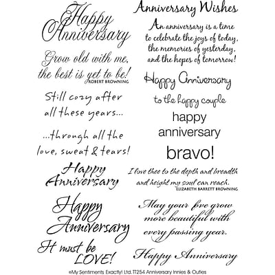 My Sentiments Exactly 6 x 8 Clear Stamp, Anniversary