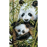 Riolis® 8 3/4 x 15 Counted Cross Stitch Kit, Panda With Young