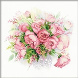 Riolis® 11 3/4 x 11 3/4 Counted Cross Stitch Kit, Watercolor Roses