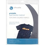 Silhouette® 8 1/2 x 11 Printable Heat Transfer Material For Dark Fabrics