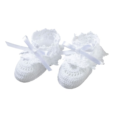 Lillian Rose™ Pair Of Crocheted Cotton Booties