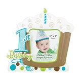 Lillian Rose™ Baby Collection 5 3/4 1st Birthday Cupcake Frame, Blue