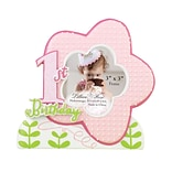 Lillian Rose™ Baby Collection 5 3/4 1st Birthday Cupcake Frame, Pink