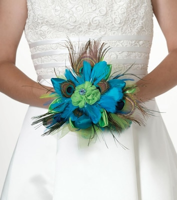 Lillian Rose(tm) Peacock Feather Bouquet