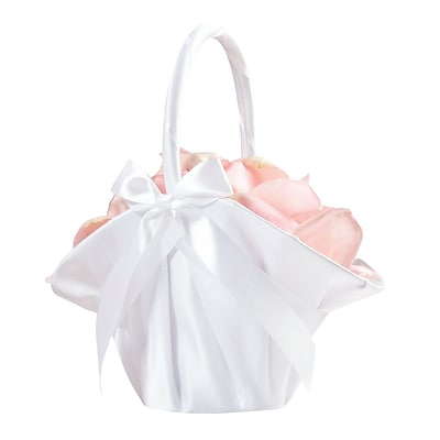 Lillian Rose™ Large Satin Basket, White
