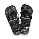 Lillian Rose™ True Love Mens Flip-Flops, Black, Large