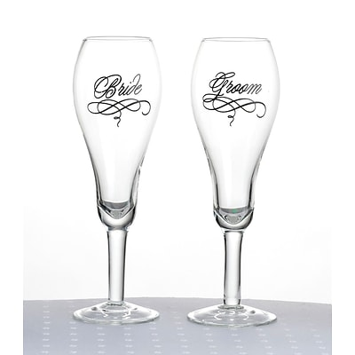 Lillian Rose™ Bride and Groom Toasting Glasses, 2/Set