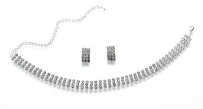 Lillian Rose(tm) Rhinestone Band Bridal Jewelry Set