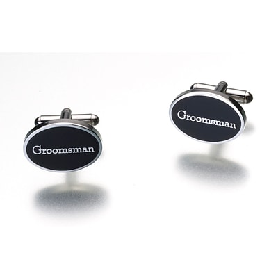Lillian Rose™ Groomsman Cufflink, Black, 2/Pack