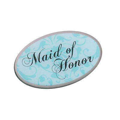 Lillian Rose™ Maid Of Honor Oval Pin, Aqua