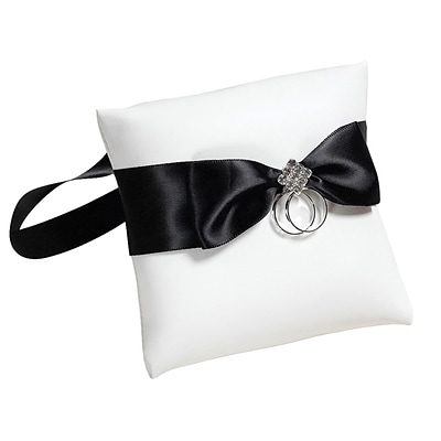 Lillian Rose™ 4 Dog Ring Pillow, Black/White