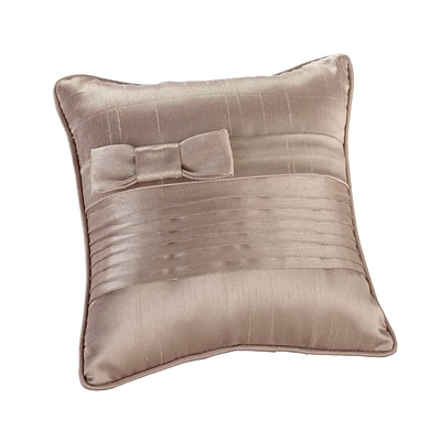 Lillian Rose™ 6 x 6 Pleated Ring Pillow, Taupe