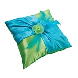 Lillian Rose™ 7 Ring Pillow, Blue/Green