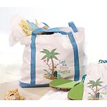Lillian Rose™ Flip Flop Love Theme Nylon Beach Bag