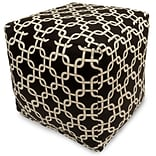 Black Links Small Cube Ottoman