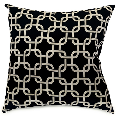 Majestic Home Goods Indoor Links Extra Large Pillow; Black