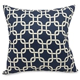 Indoor Navy Blue Links Large Pillow