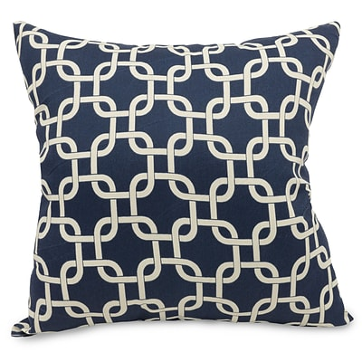 Majestic Home Goods Indoor Links Large Pillow; Navy Blue