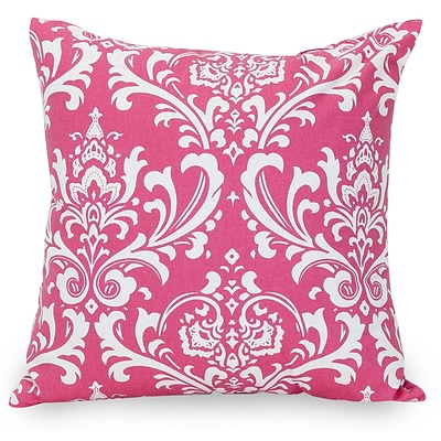 Majestic Home Goods Indoor French Quarter Large Pillow; Hot Pink