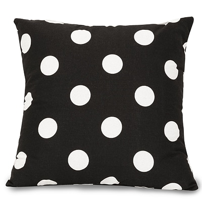 Majestic Home Goods Indoor Large Polka Dot Extra Large Pillow; Black