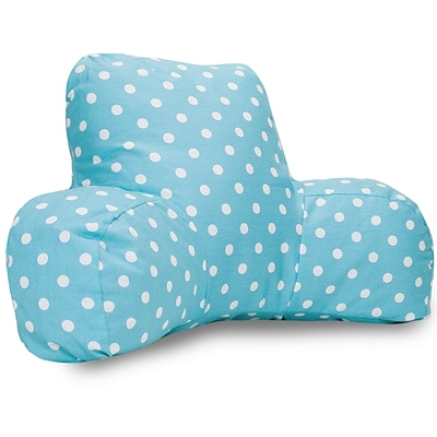 Majestic Home Goods Indoor Small Polka Dot Reading Pillow; Aquamarine