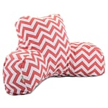 Coral Chevron Reading Pillow