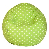 Lime SM Polka Dot COTN Small Bean Bag Chair