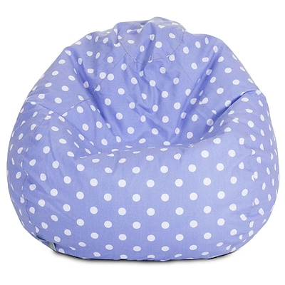 Majestic Home Goods Indoor Large Polka Dot Cotton Duck/Twill Small Classic Bean Bag Chair, Lavender