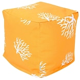 Yellow Coral Small Cube Ottoman