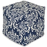 Blue French Quarter Small Cube Ottoman