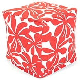 Red Plantation Small Cube Ottoman