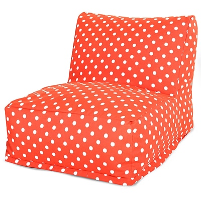 Majestic Home Goods Outdoor Polyester Ikat Dot Bean Bag Chair Lounger, Orange