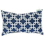 Outdoor Navy Blue Links Small Pillow