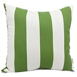 Outdoor Sage Vertical Stripe Large Pillow