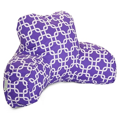 Majestic Home Goods Indoor Links Reading Pillow; Purple