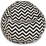 Majestic Home Goods Indoor/Outdoor Chevron Polyester Small Classic Bean Bag Chair, Black