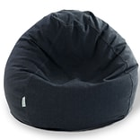 Navy Wales POLY/Linen Small Bean Bag Chair