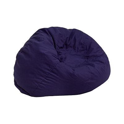 Flash Furniture Cotton Twill Small Solid Kids Bean Bag Chair Navy Blue Quill