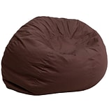 Flash Furniture Cotton Twill Oversized Solid Bean Bag Chair; Brown