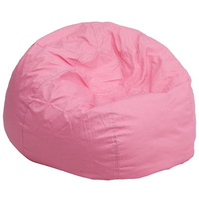Flash Furniture Cotton Twill Bean Bag Chair Light Pink Dgbeanlgsldpk