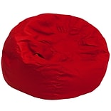 Flash Furniture Cotton Twill Oversized Solid Bean Bag Chair; Red