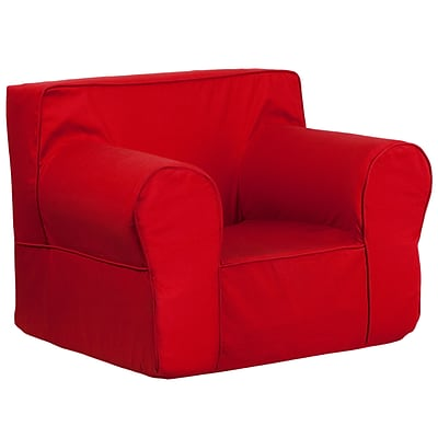 Flash Furniture Cotton Twill Oversized Solid Kids Chair, Red